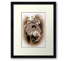 Sepia Victoriana Framed Print