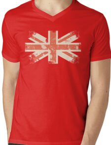 grungy UK flag Mens V-Neck T-Shirt