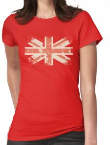 grungy UK flag Womens Fitted T-Shirt