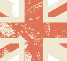 grungy UK flag Sticker