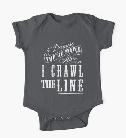 I Crawl The Line, Baby Onesie One Piece - Short Sleeve