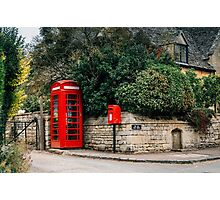 Telephone booth in Stanton, The Cotswolds Photographic Print