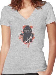 Ninja Ink Women's Fitted V-Neck T-Shirt