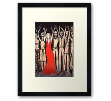She Does Not Need One. Framed Print