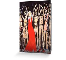 She Does Not Need One. Greeting Card