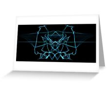 blue on Black Greeting Card