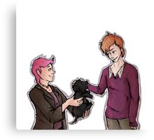 Tonks, Remus, Puppy Canvas Print