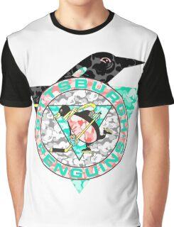 PENGUINS WHITE Graphic T-Shirt
