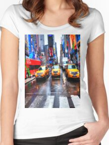 Times Square T Shirt Women's Fitted Scoop T-Shirt