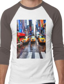 Times Square T Shirt Men's Baseball ¾ T-Shirt
