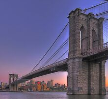 New-York Manhattan Bridge at Sunset (Panorama) by André Rizzotti