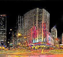 New-York Radio City Crossroad (Comic Look) by André Rizzotti