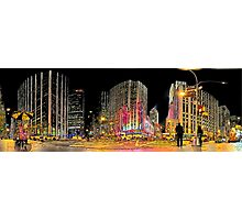 New-York Radio City Crossroad (Comic Look) Photographic Print