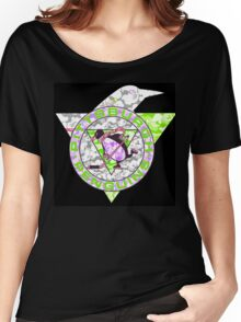 PENGUINS BLACK Women's Relaxed Fit T-Shirt