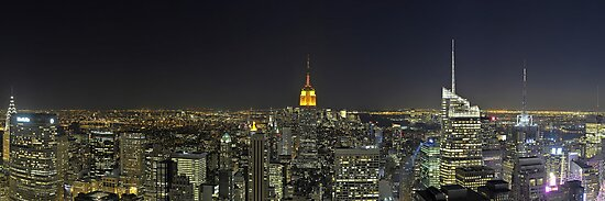 New-York Top of the Rock Skyline Overview by André Rizzotti
