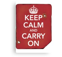 Keep Calm and Carry ON Destroyed Canvas Print
