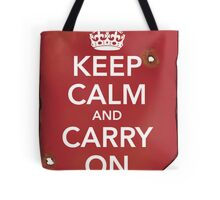 Keep Calm and Carry ON Destroyed Tote Bag