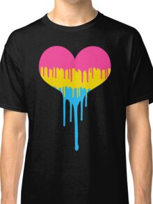 Pansexual Pride Drip Heart Classic T-Shirt