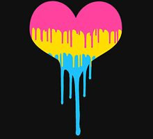 Pansexual Pride Drip Heart Unisex T-Shirt