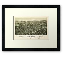 Panoramic Maps South Fork Cambria County Pennsylvania 1900 Framed Print