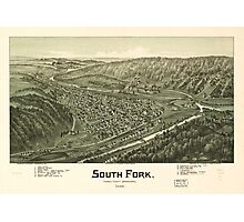 Panoramic Maps South Fork Cambria County Pennsylvania 1900 Photographic Print