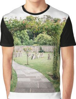 Churchyard in Bibury, The Cotswolds Graphic T-Shirt