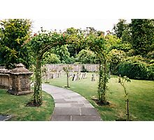 Churchyard in Bibury, The Cotswolds Photographic Print
