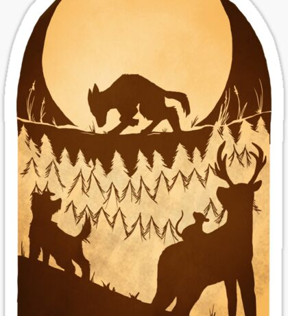 Full Moon in the Forbidden Forest Sticker