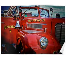 The Big Red Fire Engine 7 - Warwick Rhode Island Poster