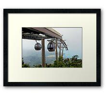 Cable cars - Top station Gunung Machincang, Langkawi Framed Print