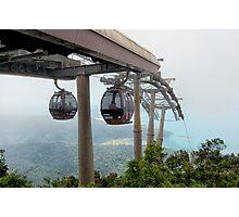 Cable cars - Top station Gunung Machincang, Langkawi Photographic Print