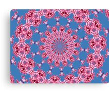 Pink flower Mandala with blue sky Canvas Print