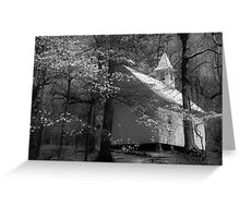 church in smokies Greeting Card