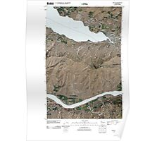 USGS Topo Map Washington State WA Chelan 20110411 TM Poster