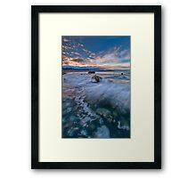 Kaikoura Driftline Blues Framed Print