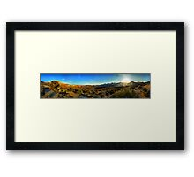 Valley of Fire Plain (Nevada - USA) Framed Print