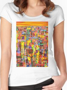 Sunset City Women's Fitted Scoop T-Shirt