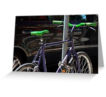 bicycle and SUV- yin and yang Greeting Card