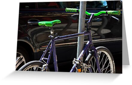 bicycle and SUV- yin and yang by David Chesluk