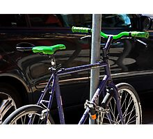 bicycle and SUV- yin and yang Photographic Print