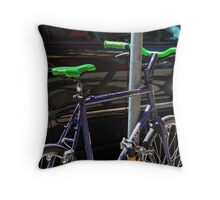 bicycle and SUV- yin and yang Throw Pillow