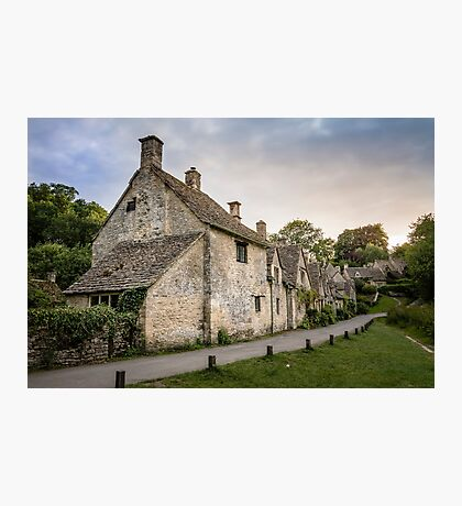 Arlingtown road row houses, Bibury, The Cotswolds Photographic Print