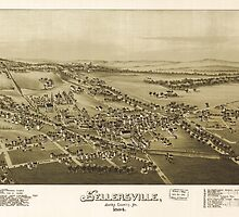 Panoramic Maps Sellersville Bucks County Pa 1894 by wetdryvac