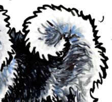 Keeshond :: Totally Hairifying Sticker