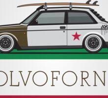 Volvofornia Slammed Volvo 242 240 Coupe California Style Sticker