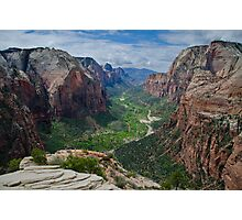 Zion Canyon.2 - Zion National Park, Utah Photographic Print