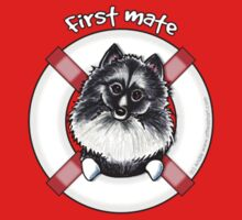 Keeshond :: First Mate T-Shirt