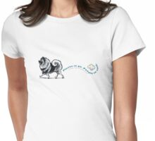 Keeshond :: Places to Go Womens Fitted T-Shirt