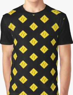 Baseball or Softball - Traffic Sign - Diamond Graphic T-Shirt