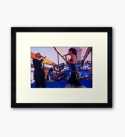 Gary Barlow and Cheryl Cole Framed Print